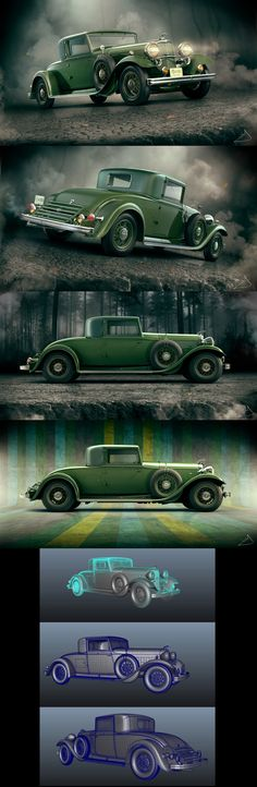 1932 Lincoln KB Coupe by Tigersfather 1500px X 4591px