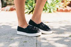 Seychelle Quake Ruffled Slip on Sneaker
