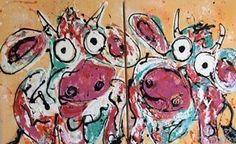 kunst modern abstract kleurrijk vrolijk schilderij Carinart Happy Paintings, Pictures, Animals, Colors, Art, Photos, Art Background, Animales, Animaux