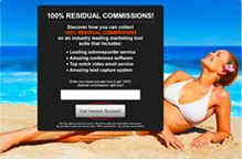 100% RESIDUAL COMMISSIONS! Discover how you can collect 100% RESIDUAL COMMISSIONS on an industry leading marketing tool suite that includes:      Leading autoresponder service     Amazing conference software     Top notch video email service     Amazing lead capture system
