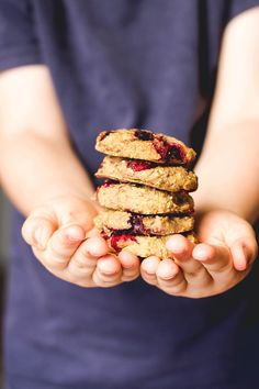 Fruity chickpea cookies are healthy cookies made from chickpeas, chia seeds and fruit. Dairy free. Sweetened only with fruit. Great for lunchbox or blw.