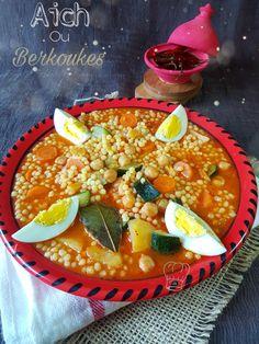 Aich Berkoukes, Mhamssa Plat Algérien   Gourmandise Assia Algerian Recipes, Algerian Food, Plats Ramadan, Curry, Menu, Ethnic Recipes, Tomato Soup, Cooking Recipes, Menu Board Design