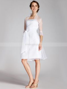 Classic Satin Little White Dress - for rehearsal dinner or ride to FL? Take a look at the web portal for 5 wonderful style with white outfit Cute Wedding Dress, Fall Wedding Dresses, Colored Wedding Dresses, Wedding Gowns, Dream Wedding, Wedding Events, Wedding Reception, Wedding Ideas, Vintage Bridesmaid Dresses