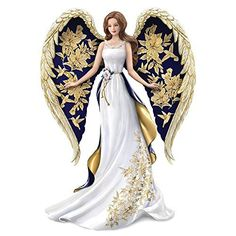 The Hamilton Collection Lena Liu Angel Figurine with Hand Applied Golden Floral and Hummingbird Artwork Porcelain Doll Makeup, Porcelain Dolls For Sale, Fine Porcelain, Porcelain Tiles, Blue Willow China, Doll Tattoo, Indian Dolls, China Dolls, Angel Art