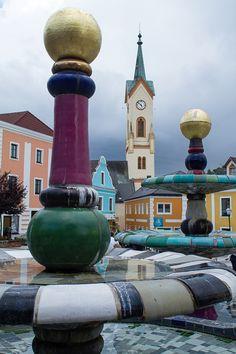 Zwettl. Brunnen Hundertwasser. Vienna Woods, The Mont, Heart Of Europe, Central Europe, Salzburg, Luxembourg, France Travel, Bavaria, Homeland