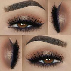 ___  Eyeshadows: @morphebrushes 35O palette  ___  Liner: @doll10beauty Aqua Gel Eyeliner in 'Violet ___  Lashes: @pinkygoatlashes in 'Layla' by paola.11