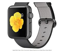 Apple 38mm Smart Watch - Space Gray Aluminum, Black Woven Nylon Band ** See this great product.