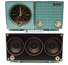 Mod Radio - upcycled vintage radios with new stereo speakers.