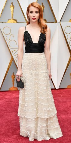 See All the Celebrity Looks from the 2017 Academy Awards Red Carpet - Emma Roberts from InStyle.com