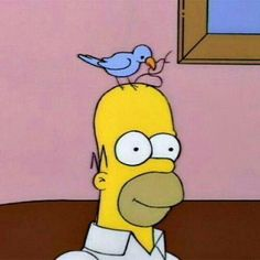 Find images and videos about bird, the simpsons and simpsons on We Heart It - the app to get lost in what you love. Cartoon Icons, Cartoon Memes, Funny Memes, Memes Simpsons, The Simpsons, Cartoon Profile Pictures, Old Cartoons, Mood Pics, Funny Cartoons