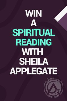 Mindfulness & Life Coach Conversation|  Are you longing for spiritual guidance?  Would you like to communicate with loved ones who have crossed over?  Now is your chance to win a free Spiritual Reading Session With Sheila Applegate  Sheila is a gifted conduit for spirit, offering you a sense of comfort and opening you to a new relationship with the spirit world.   Here is how you can Win A Spiritual (Psychic) Reading with Sheila Applegate   via @ConsciouslyAwe