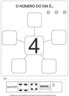 Atividades com os numerais de 1 a  5Corte e Recorte Educativo