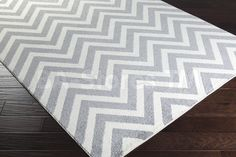 Rugs: Horizon ZigZag Wave Pattern Rug in Gray and Ivory HRZ1038/7  http://www.ba-stores.com/product/horizon-zigzag-wave-pattern-rug-in-gray-and-ivory