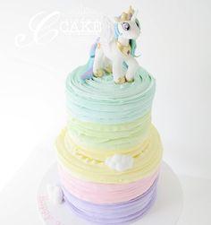 Pastel Ruffled My Little Pony Cake
