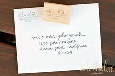 SCRIPT Custom Design Return Address Stamp by atouchoflove on Etsy, $21.95