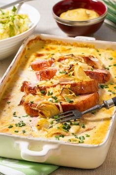 Kasseler in honey mustard cream recipe DELICIOUS-Kasseler in Honig-Senf-Sahne Re. - Kasseler in honey mustard cream recipe DELICIOUS-Kasseler in Honig-Senf-Sahne Rezept Crock Pot Recipes, Low Carb Chicken Recipes, Pork Recipes, Seafood Recipes, Cake Recipes, Plats Healthy, Tasty, Yummy Food, Honey Mustard