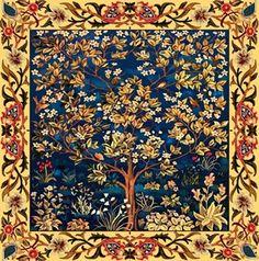tree of life art tile for kitchen
