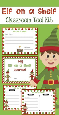 Everything you'll need to start the Elf on a Shelf tradition in your classroom! Fun! $
