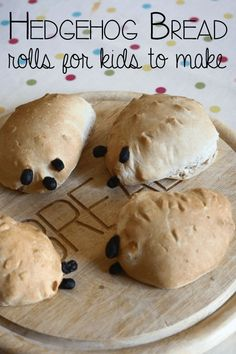 A simple bread recipe for kids to make in just under 2 hours that will make 4 - 6 small hedgehog bread rolls perfect for some autumn baking