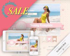 Responsive Blogger Template Sunny  Blogger by FlyBirdBranding
