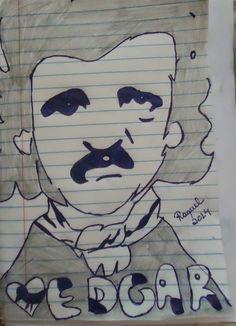 Desenho original de Edgar Allan Poe