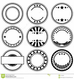 Buy Rubber Stamps by on GraphicRiver. Vector set of empty rubber stamps with space for text. Package contains: EPS version), JPG pixels, RGB). Free Label Templates, Logo Templates, Rundes Logo, Teacher Stamps, Space Text, Passport Stamps, Affinity Designer, Cartoon Coloring Pages, Badge Design