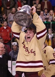 Last night, Boston College skated to a 6-3 win over Northeastern to capture its fourth consecutive Beanpot title, via Flickr. #4peat #WeAreBC #Beanpot