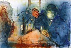 The Drinkers   -  Edvard Munch 1906  Norwegian  1863-1944
