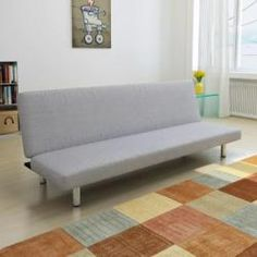 Futon Sofa Bed Convertible Couch Living Room Dorm Sleeper Lounge Dark Gray for sale online Grey Sofa Bed, Futon Sofa Bed, Sofa Sleeper, Upholstered Sofa, Sofa Bed Wooden, Canape D Angle Design, Atlantic Home Collection, Modern Sofa Designs, Contemporary Design