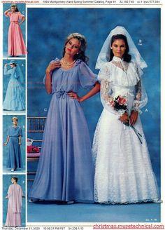 Vintage Wedding Photos, Vintage Weddings, 80s Fashion, Vintage Fashion, She's A Lady, Girls Dresses, Flower Girl Dresses, Montgomery Ward, Christmas Catalogs