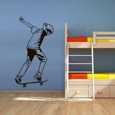 Wall Vinyl Sticker Decals Decor Art Bedroom Design Skate Skateboard Rampa Roller Skaters Board Sport Jump Street (Z3080) StickersForLife http://www.amazon.com/dp/B00NW7C2BI/ref=cm_sw_r_pi_dp_vV7fvb1VQEABJ