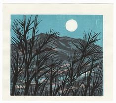 Bare Trees under a Full Moon, 1996 by Contemporary artist (unsigned)
