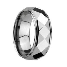 Tungsten and Titanium engagement ring