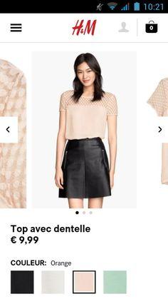 Top dentelle- H&M