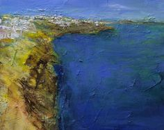 Small Box Painting 1167 - Original Oil Painting - 22.7 cm x 22.7 cm (app. 8.9 inch x 8.9 inch)