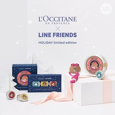Loccitane x Line Friends Hand Cream | 45,000won | Image credit: https://www.instagram.com/linefriends/ | #ShopandBoxKorea #holidaycollection2016