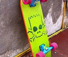 Bart Simpson Skateboard