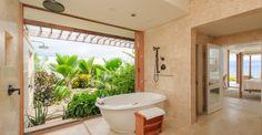 Indoor / outdoor bathroom in Barbados beach house for sale - http://www.7thheavenproperties.com/real-estate/barbados/st-philip-skeetes-bay-beach-houses-for-sale-2-bedroom/
