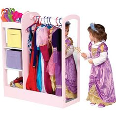 Guidecraft See and Store Dress-Up Center, Pastel -- This would be so cute in the playroom!
