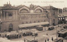 Paris, la Gare de Montparnasse et la place de Rennes, vers 1910.