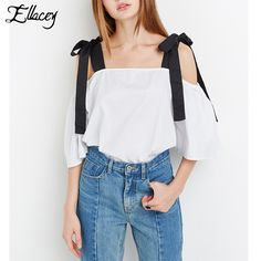 Find More Blouses & Shirts Information about Ellacey 2017 Summer Women T shirts Slash Neck Bowknot Sling Lace Up Tee Tops Sexy Bow Tie Blouse Girls White T Shirt Female,High Quality shirt bra,China shirt importer Suppliers, Cheap shirt packages from Ellacey Store on Aliexpress.com