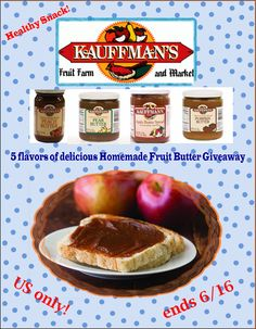 Enter to win 5 Fruit Butters - http://chant3llo.com/fruit-butter-giveaway-for-apple-butter-lovers/