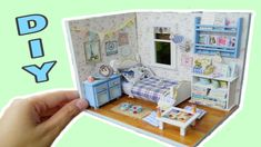 This is just a kit but you have to assemble everything by yourself. Blue Bedroom, Art Club, Diys, Easy Diy, Miniatures, Make It Yourself, Bricolage, Mockup, Do It Yourself