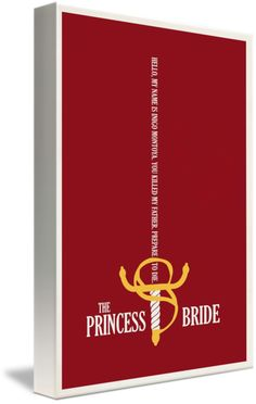 """""""The Princess Bride"""" by Matt Owen, Little Rock // Minimalist film poster for the movie 'The Princess Bride' // Imagekind.com -- Buy stunning fine art prints, framed prints and canvas prints directly from independent working artists and photographers. $15"""