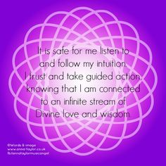 Crown Chakra Affirmation created by me Anna Grace Taylor