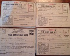 War ration books three no 3 books and one no 4 book on Etsy, $12.00