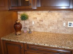 Backsplash Idea. I Have Those Countertops And Cabinets, Now I Need The  Backsplash!