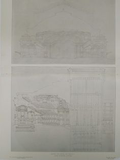 Sections, New Theatre, New York, NY, 1906, Original Plan. Carrere & Hastings
