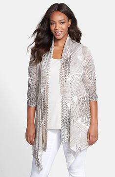 NIC+ZOE 'Dashing Diamonds' Cardigan (Plus Size) available at #Nordstrom
