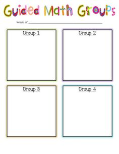 Guided Math Groups  If I ever get around to guided math groups.  I am trying to do these once a week this year.  Maybe next year I will try two days a week.